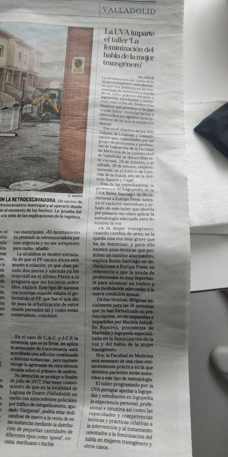 Taller de feminización de la voz en Valladolid