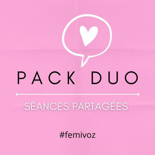 Pack duo séances partagées féminisation de la voix