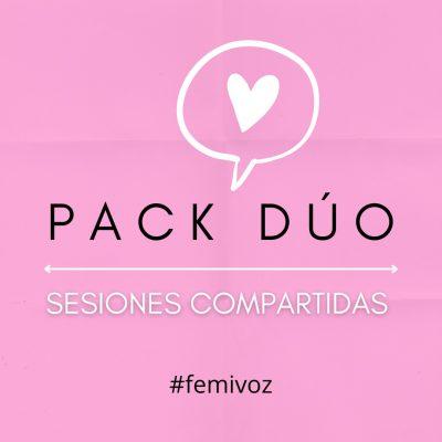 Pack Dúo Sesiones Compartidas Feminización de la voz