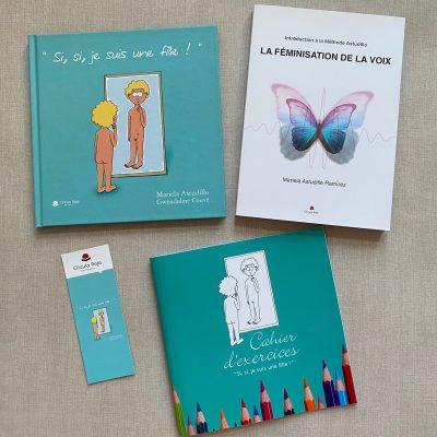 libros marca paginas y cuaderno de ejercicios femivoz